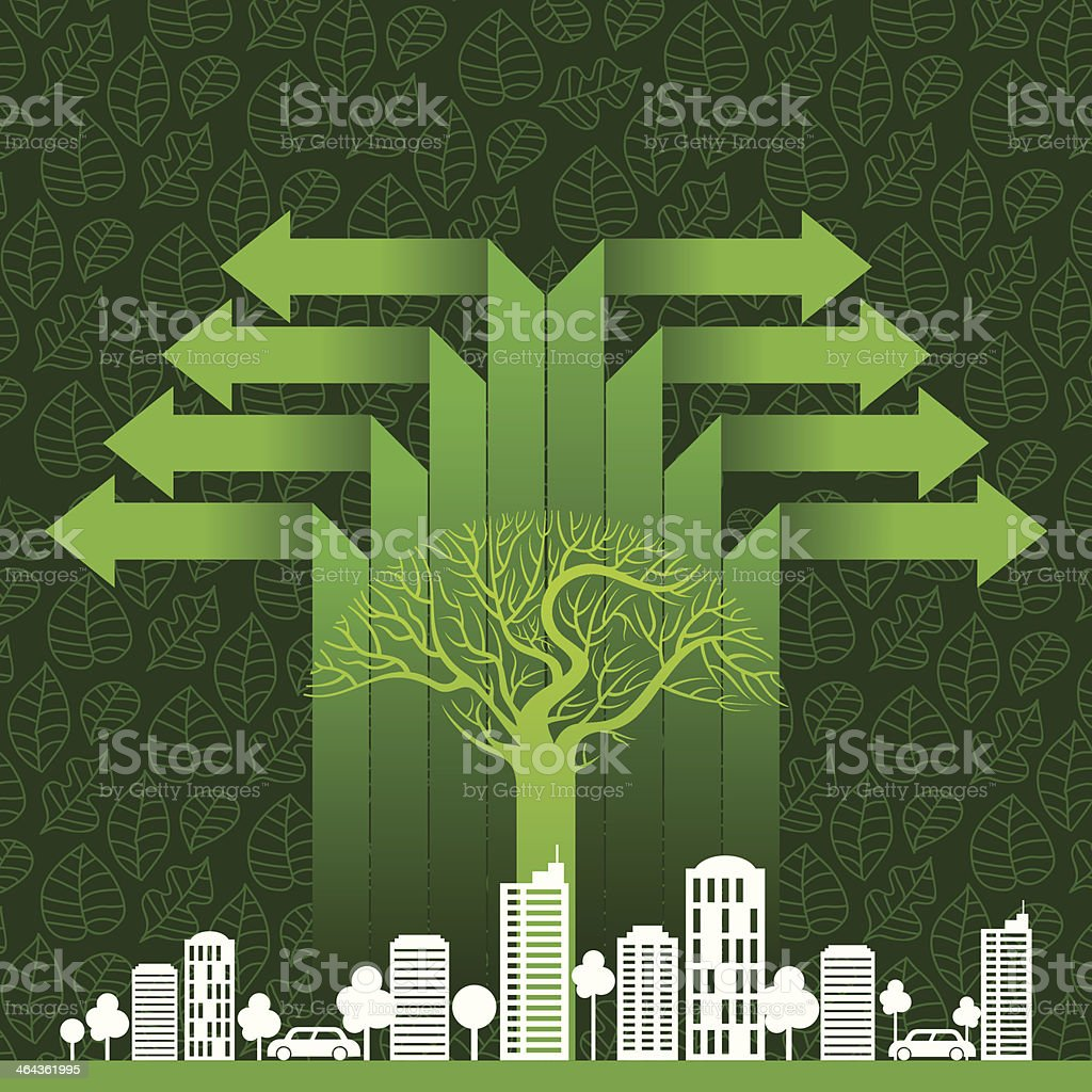 Eco friendly tree save earth royalty-free stock vector art