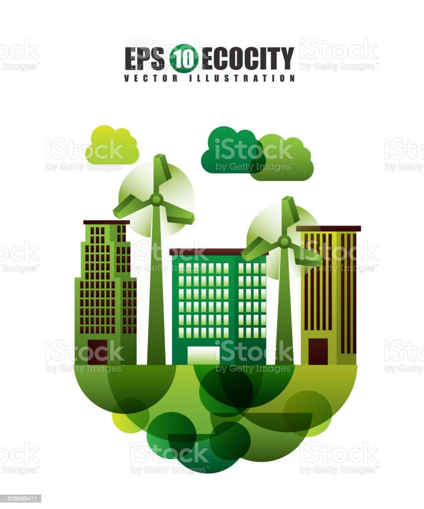 eco friendly vector art illustration