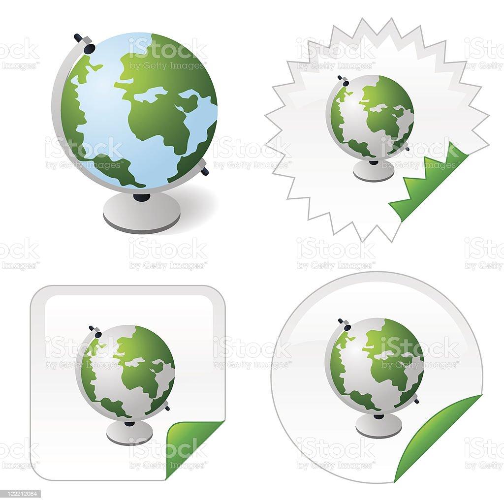 Eco globe vector art illustration