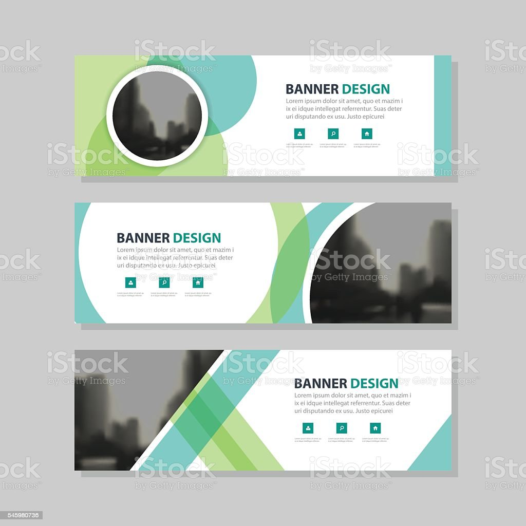 eco green abstract circle corporate business banner template 1 credit