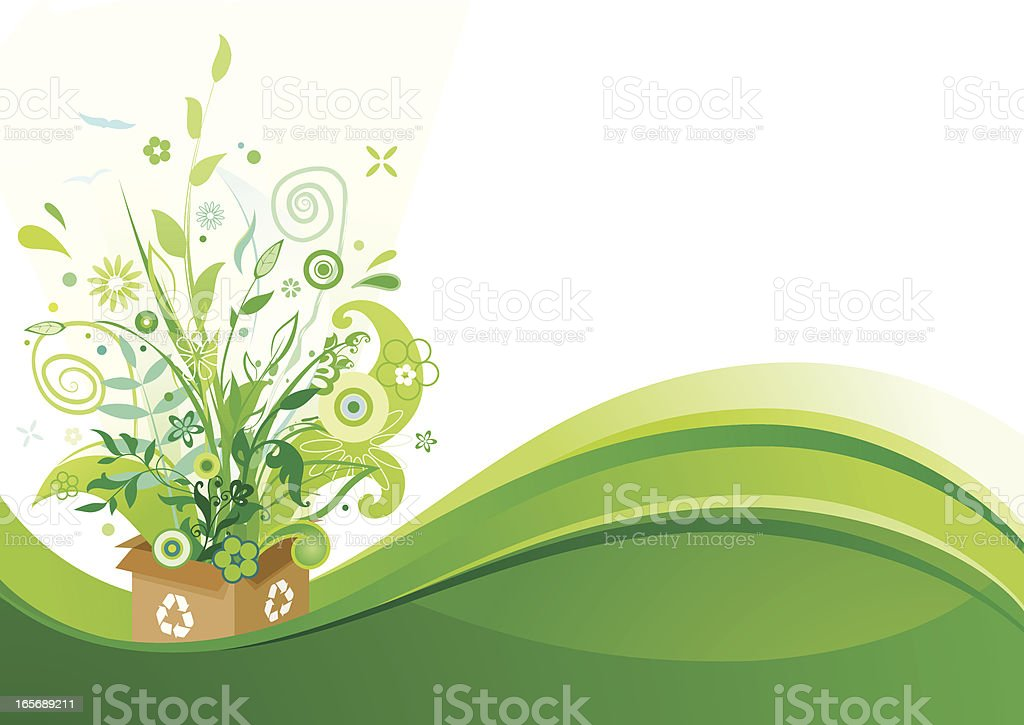Eco green background royalty-free stock vector art