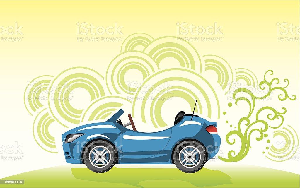 Eco Green Car royalty-free stock vector art