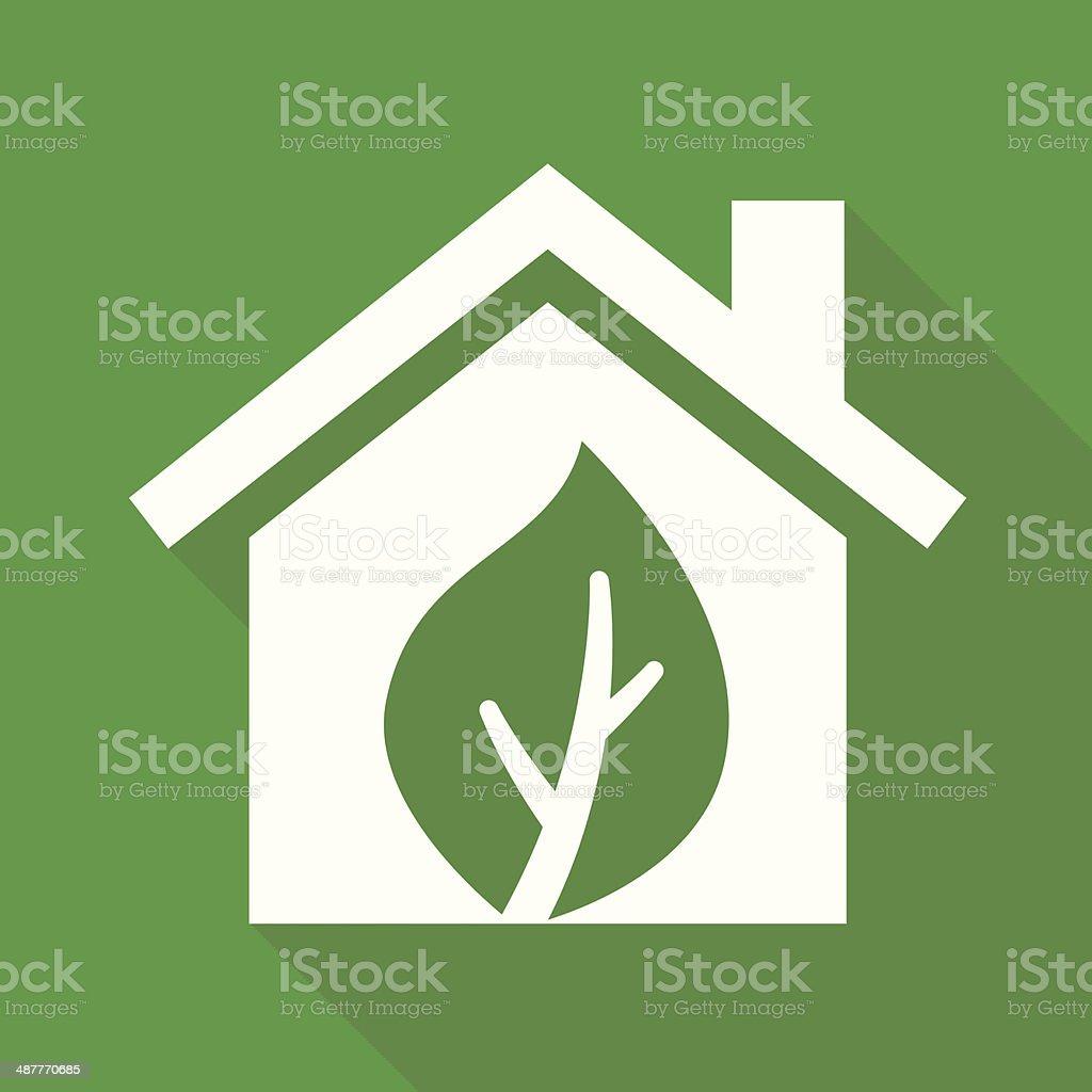 Eco Green Home vector art illustration