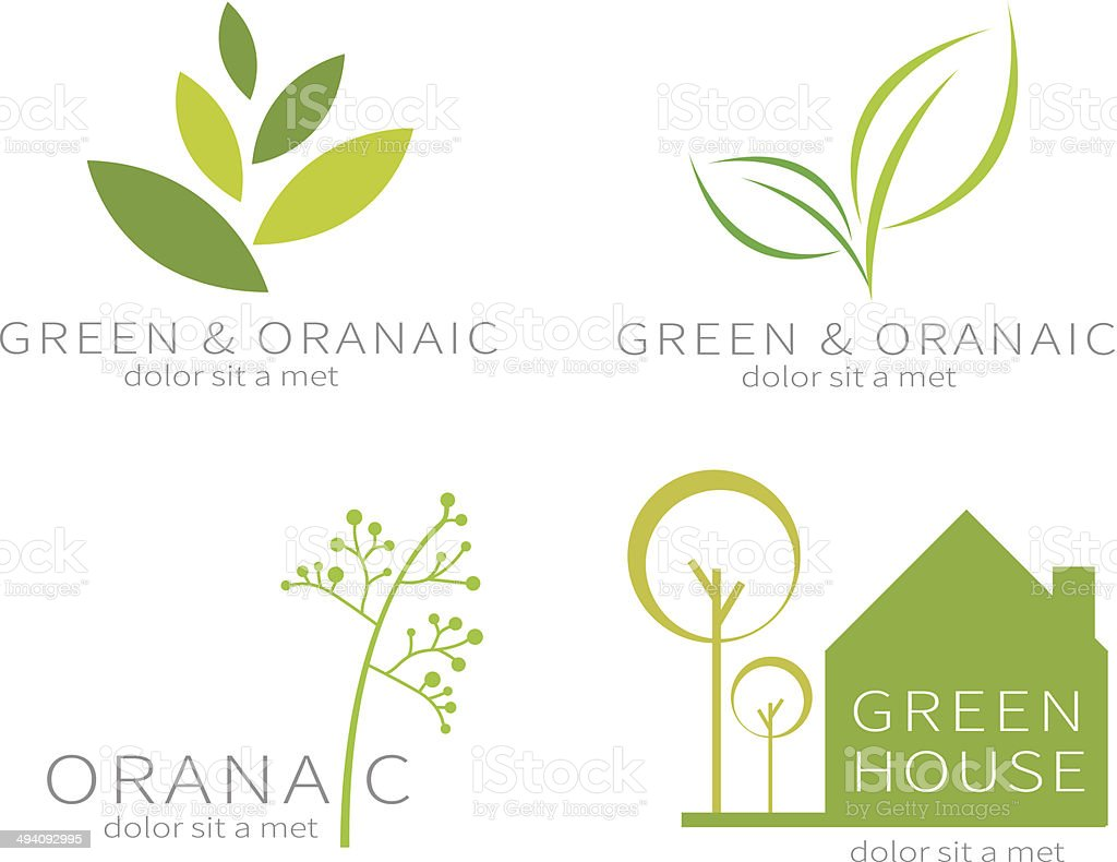 Eco green leaf . Ecology green icon. vector art illustration