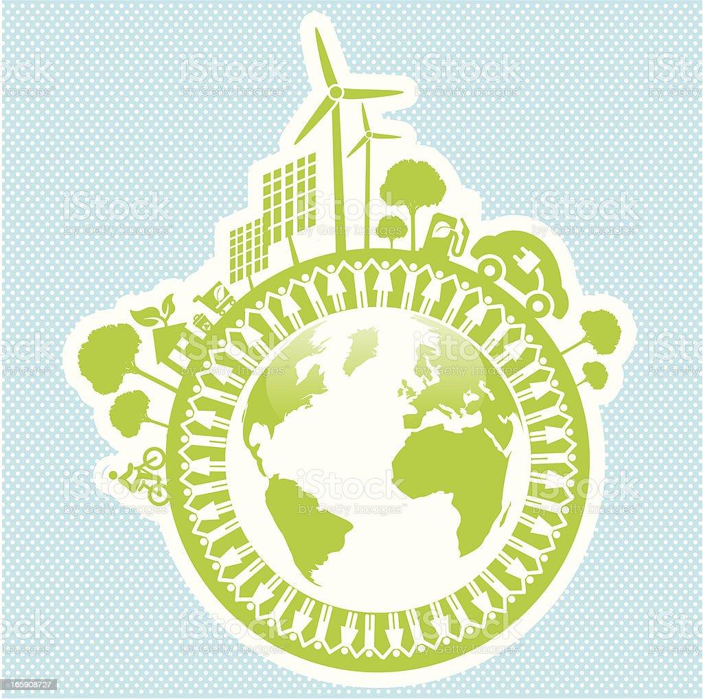 eco green world life style royalty-free stock vector art
