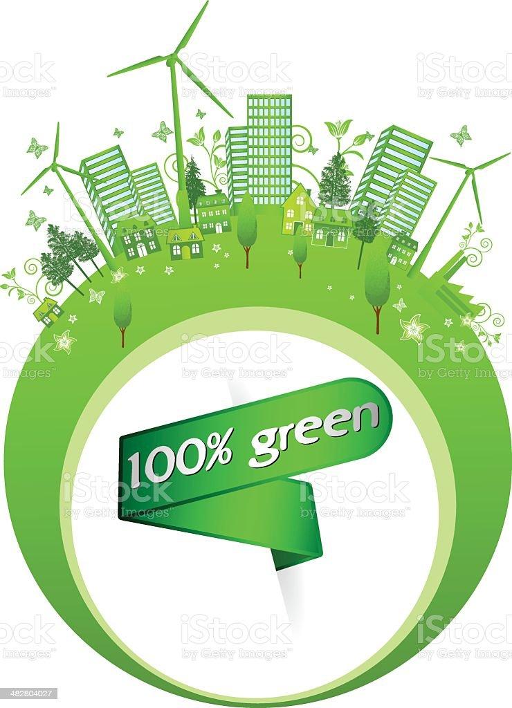 Eco Green World royalty-free stock vector art