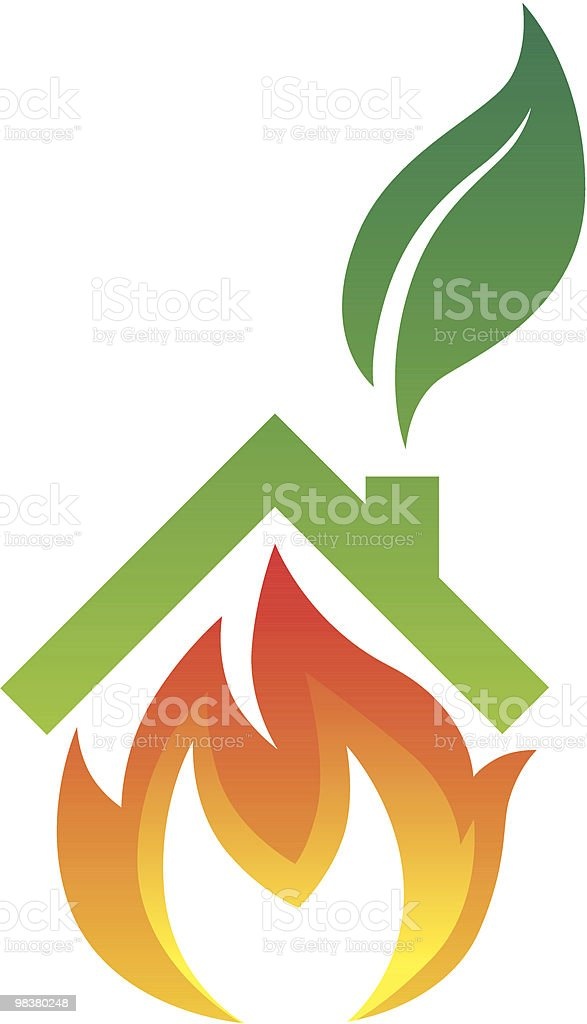 Eco Home Heating royalty-free stock vector art