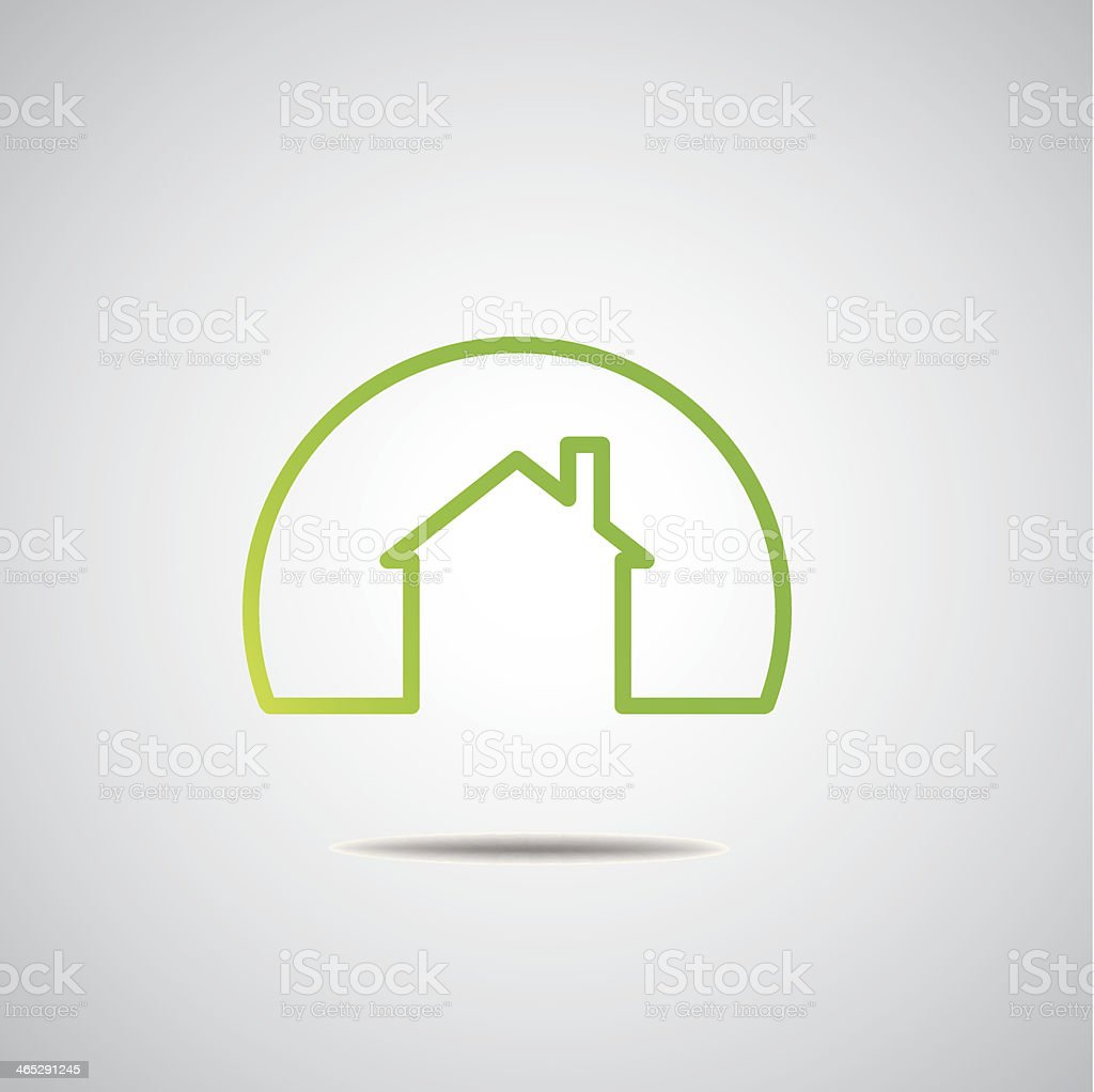 Eco House Real Estate icon. Vector design vector art illustration