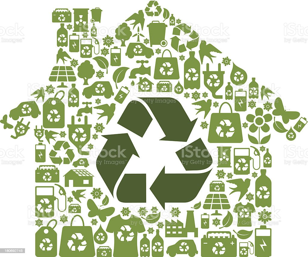 Eco House Symbol vector art illustration