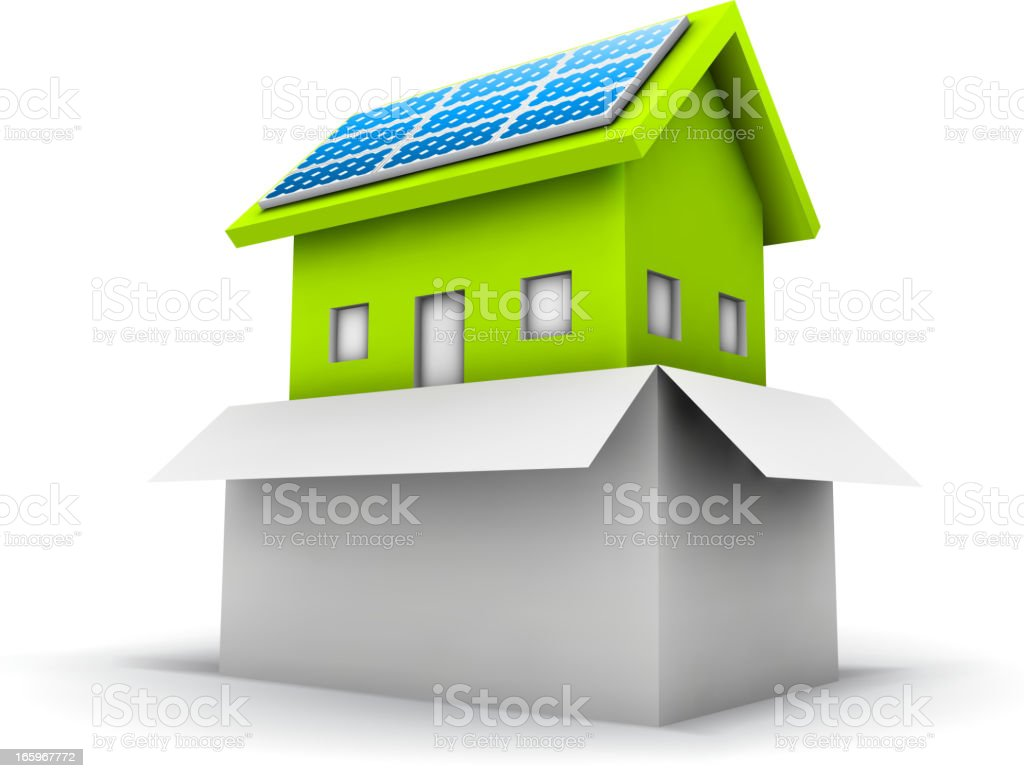 Eco house royalty-free stock vector art