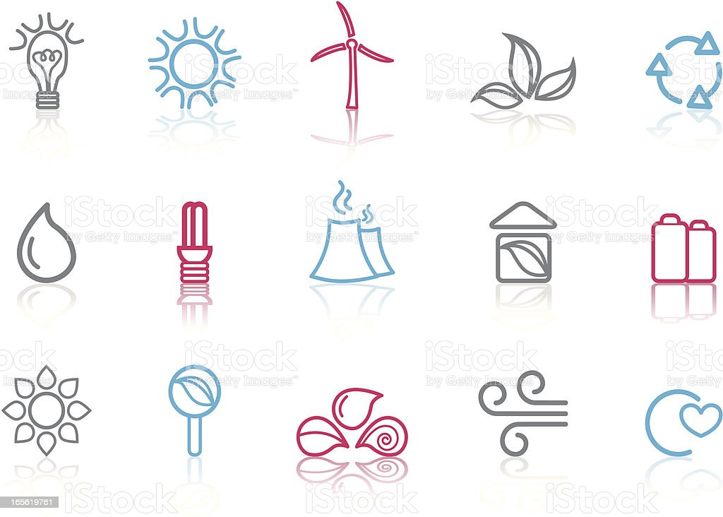 Eco Icon set royalty-free stock vector art