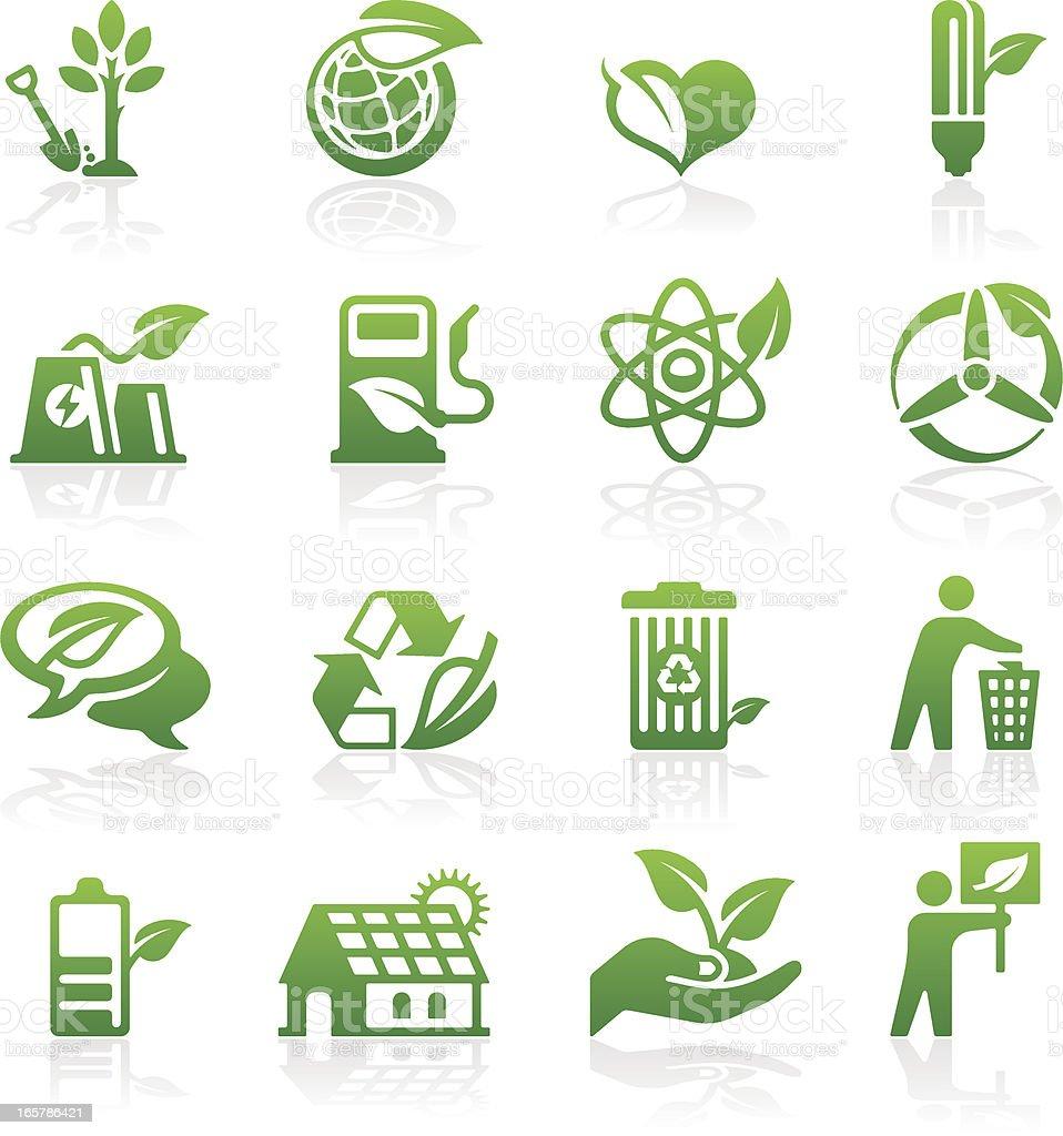 Eco icon set vector art illustration