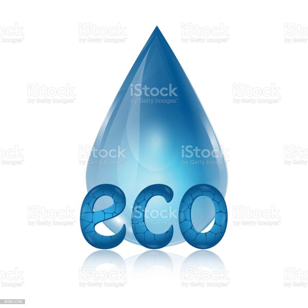 Eco icon vector art illustration