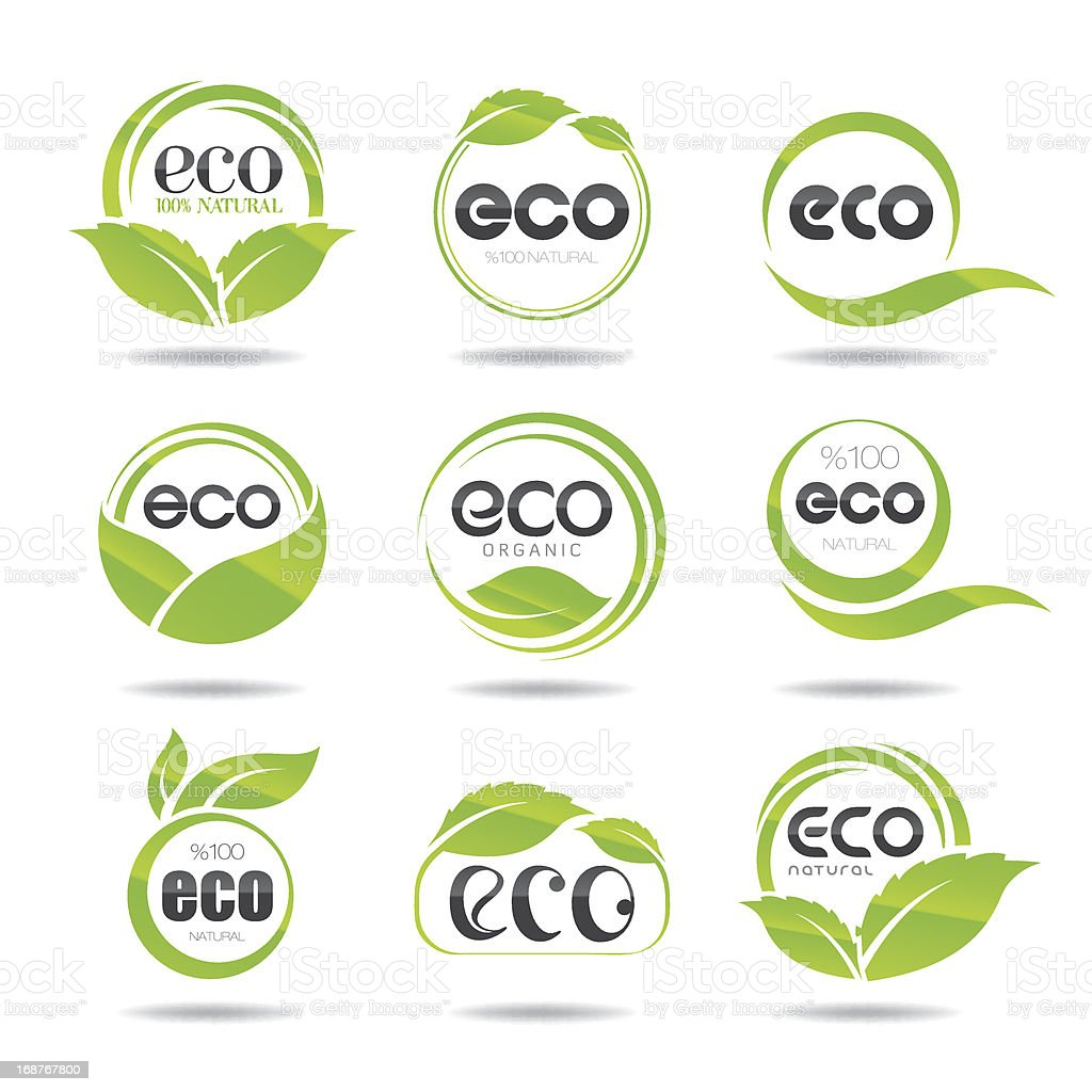 Eco Icons Set vector art illustration