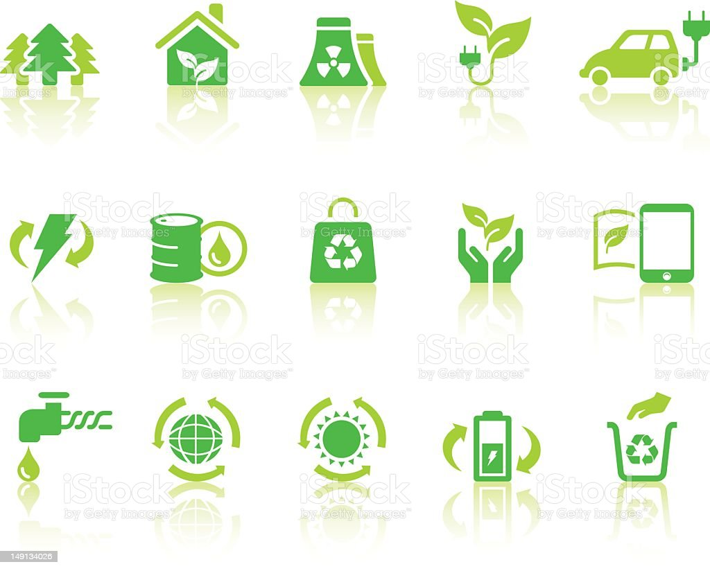 Eco Icons | Simple Series vector art illustration