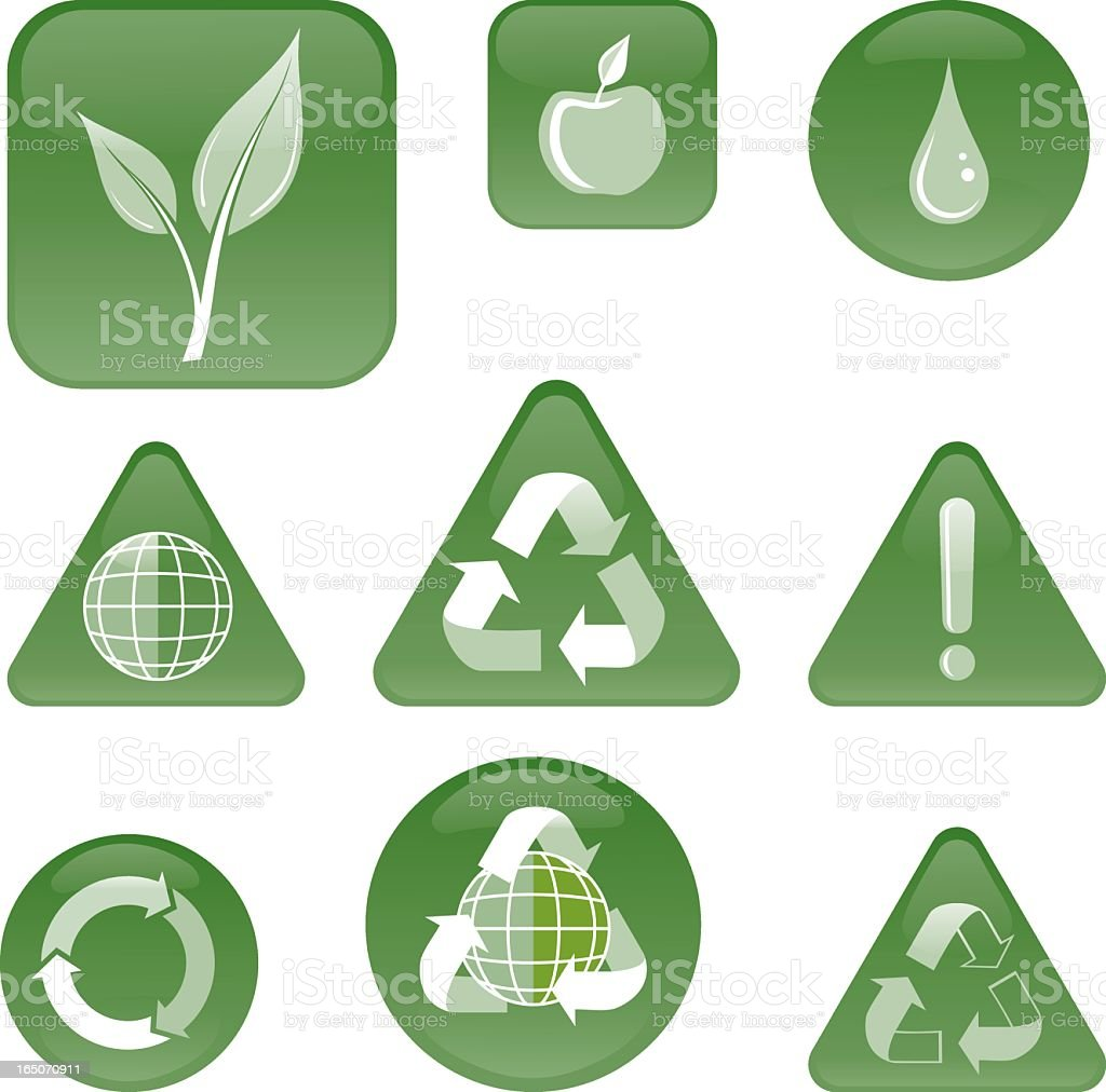 Eco icons. royalty-free stock vector art