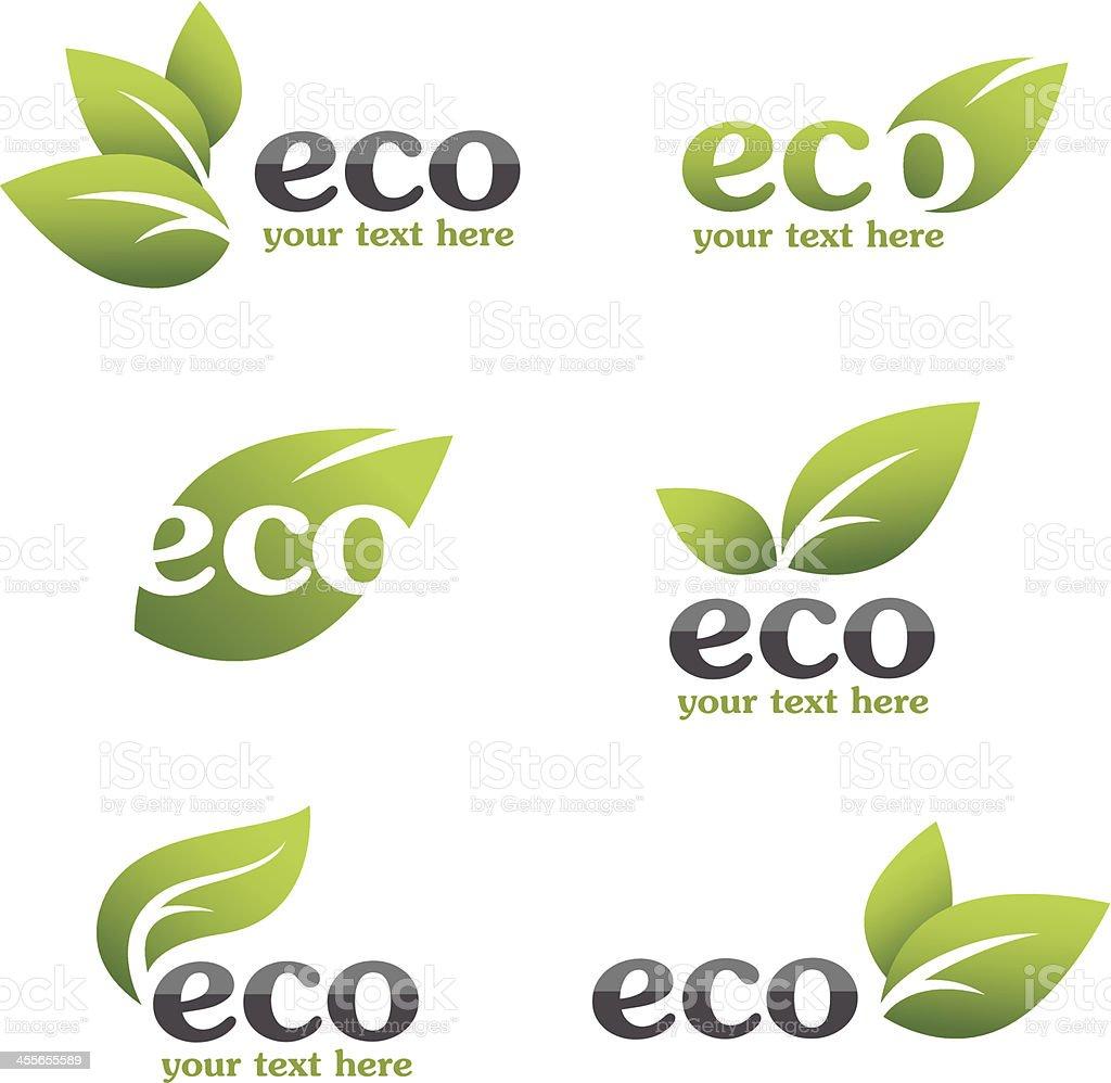 Eco icons vector art illustration