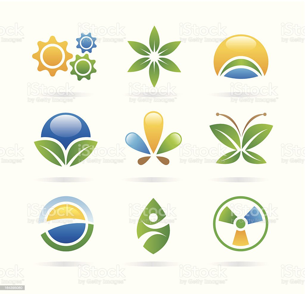 eco icons/logos royalty-free stock vector art