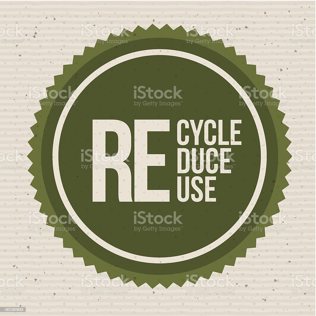 Eco Ideas vector art illustration
