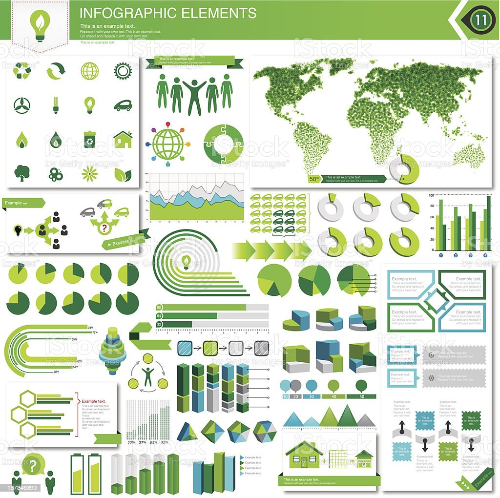 Eco Infographic Elements vector art illustration