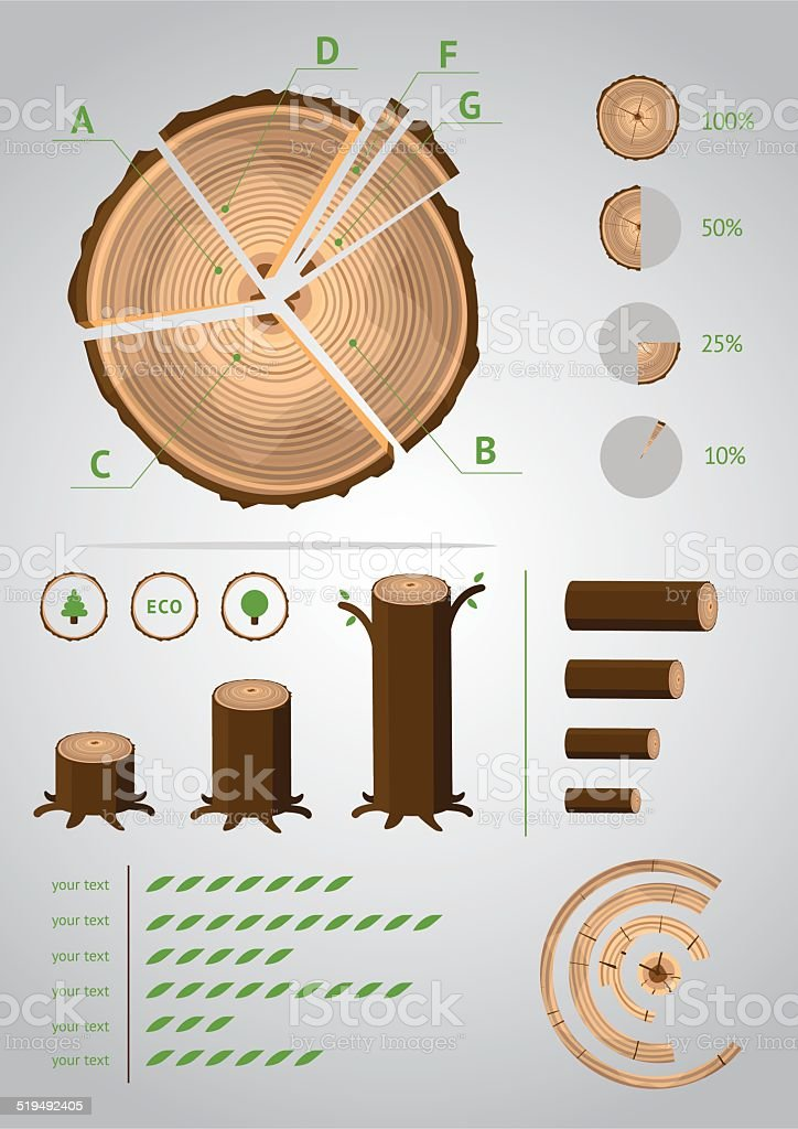 Eco Infographic vector art illustration