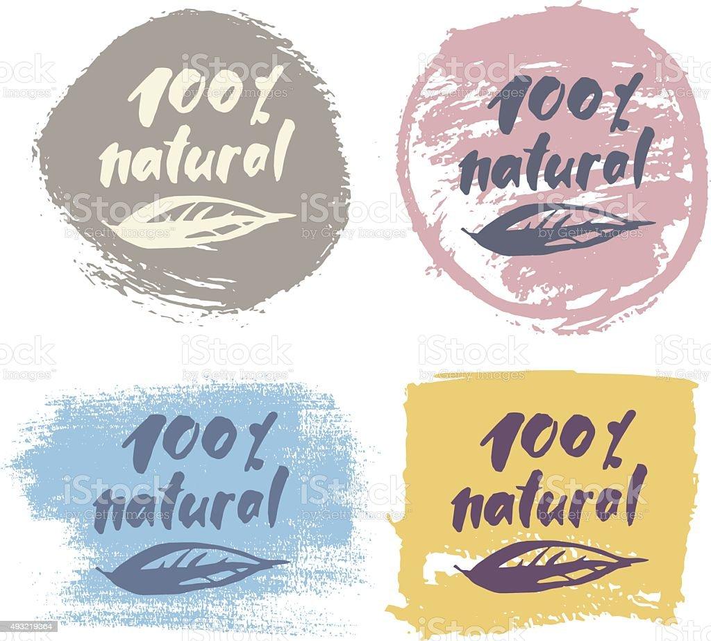 Eco label set vector art illustration