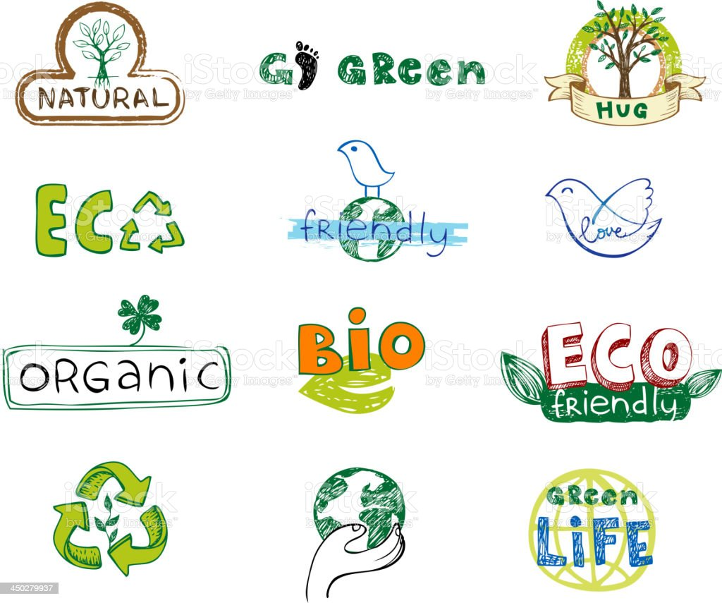 Eco labels royalty-free stock vector art