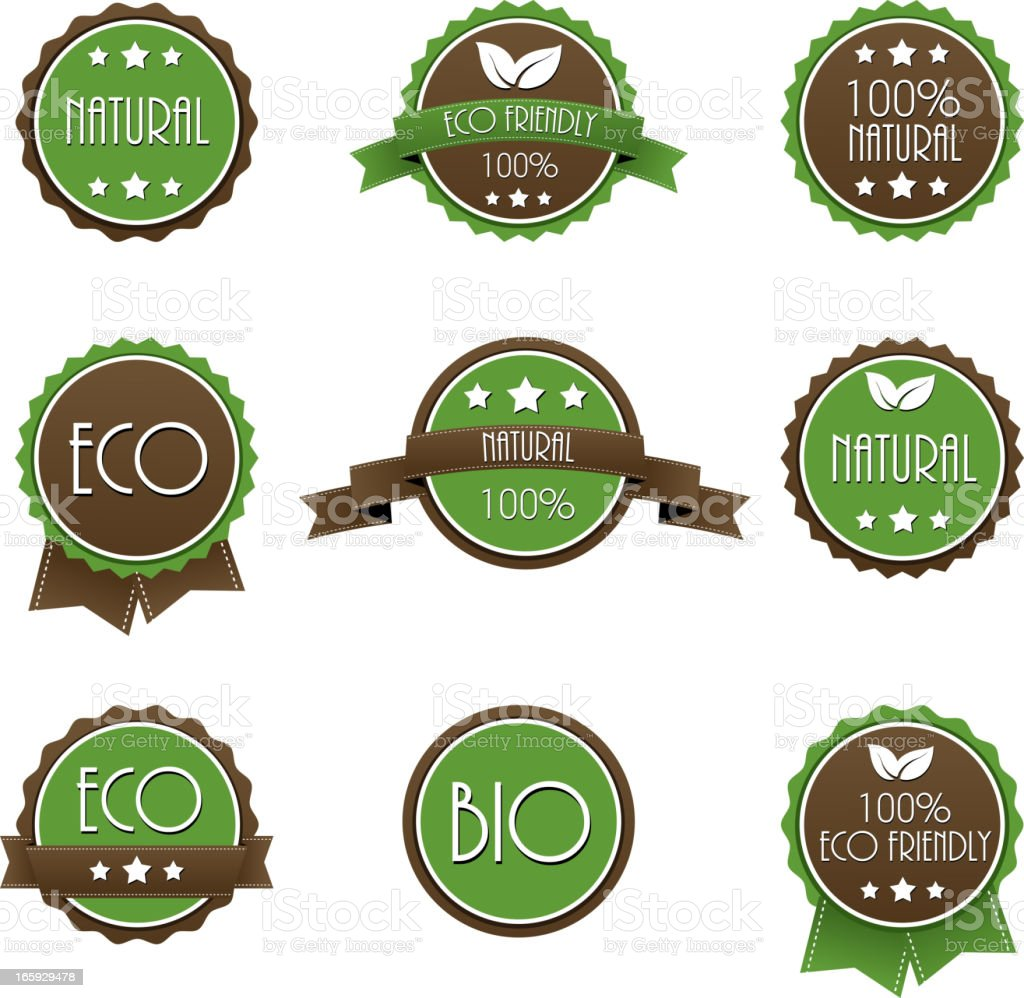 Eco lables royalty-free stock vector art