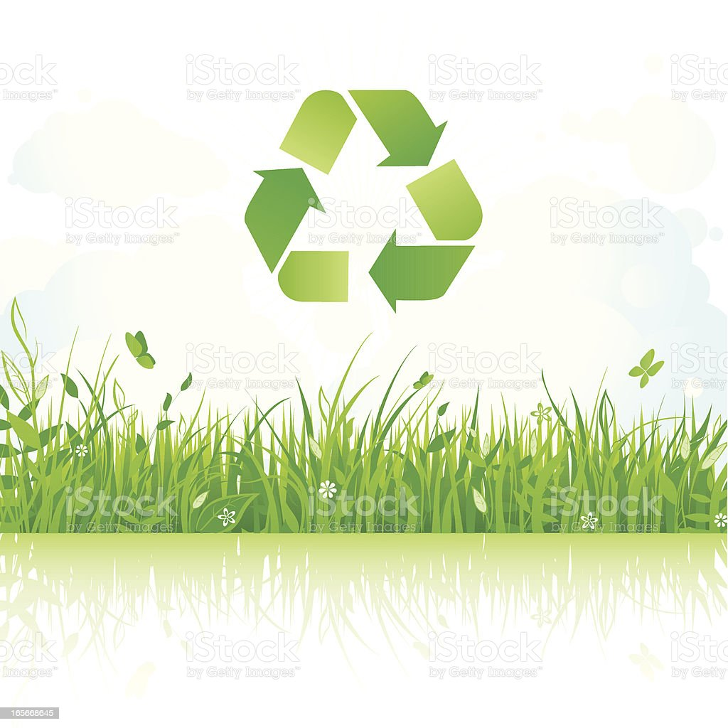 Eco landscape royalty-free stock vector art