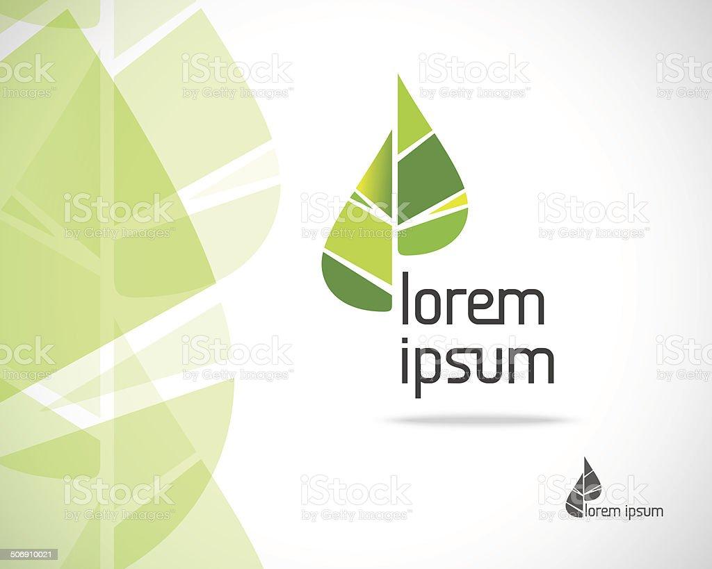 Eco Leaf Logo vector art illustration