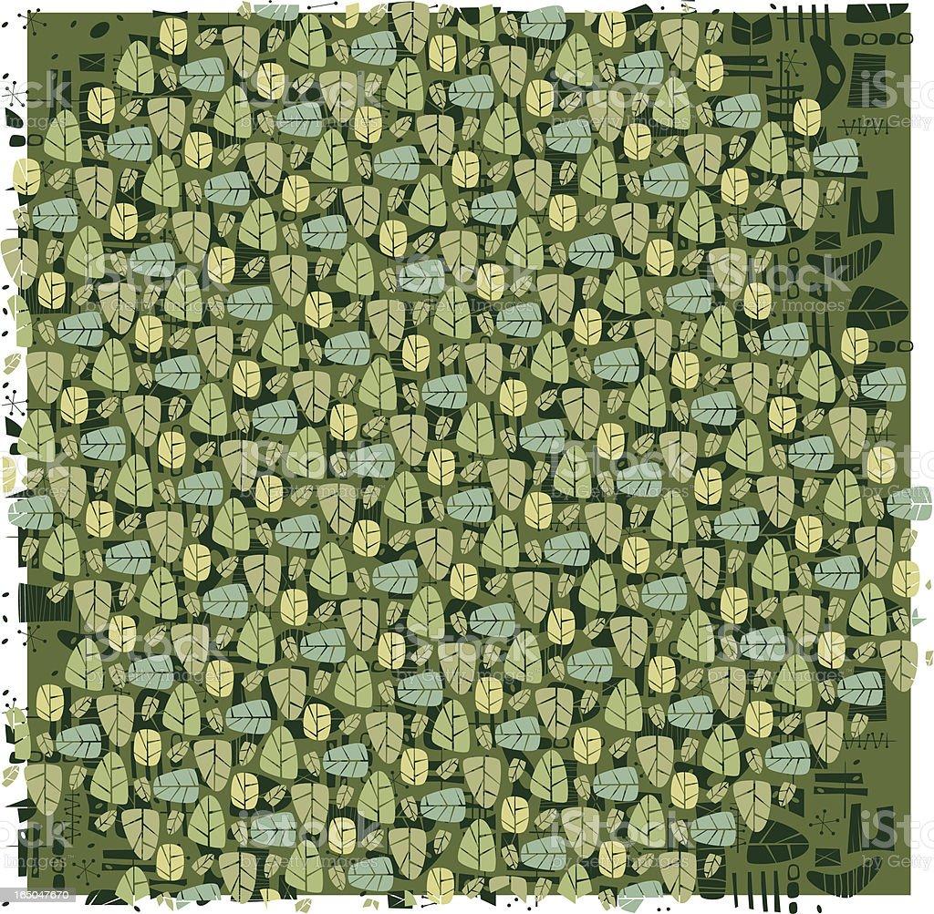 Eco Leaf Pattern vector art illustration