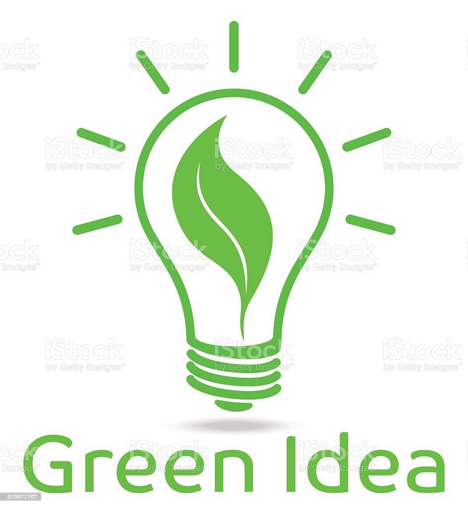 Eco light bulb vector design vector art illustration