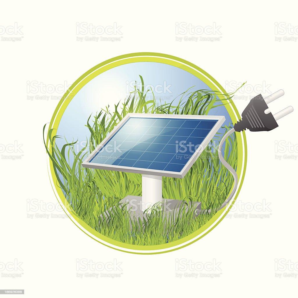 Eco logo of solar panel royalty-free stock vector art