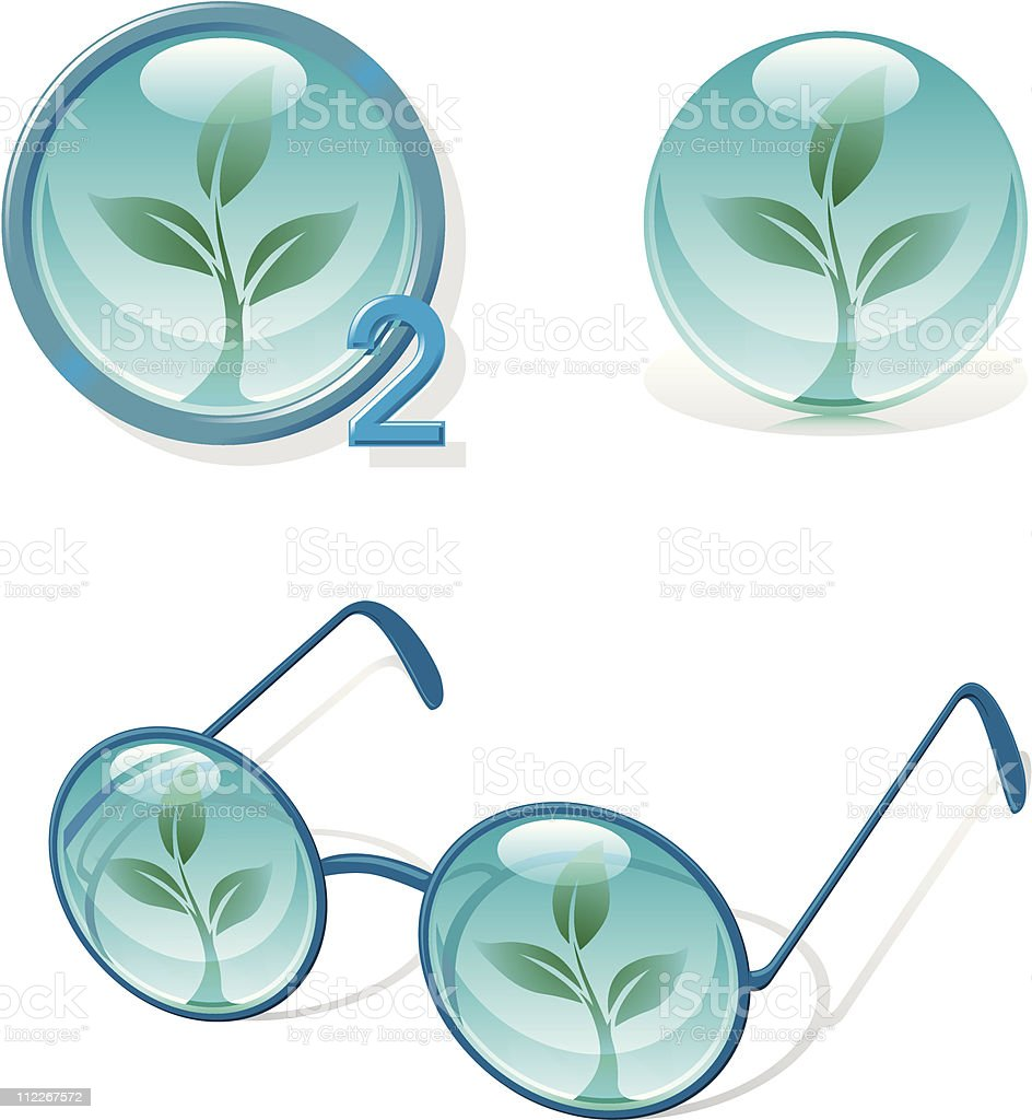 Eco O2 royalty-free stock vector art
