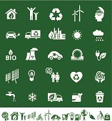 eco or ecology icons