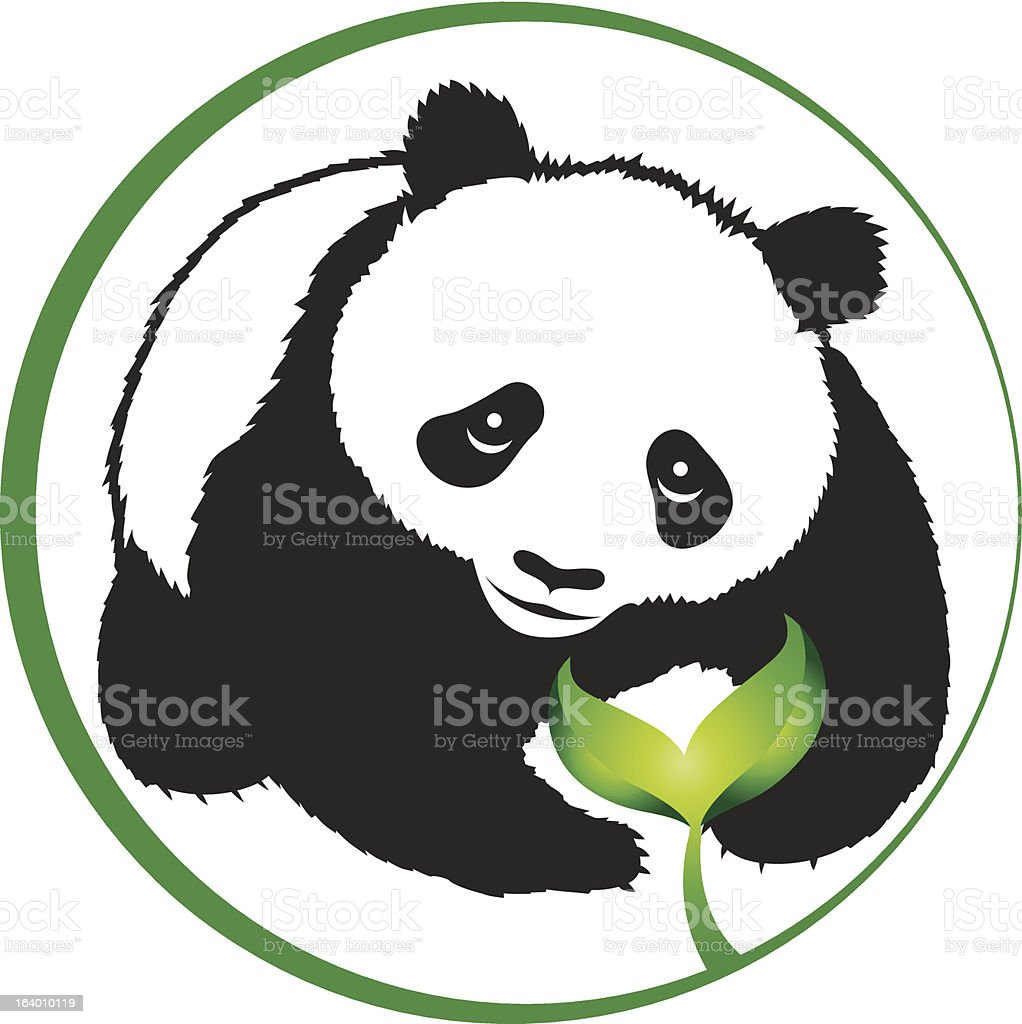 Eco panda vector art illustration