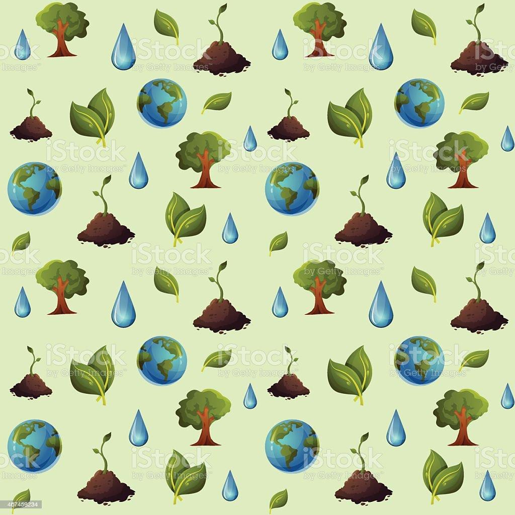 Eco pattern seamless vector art illustration