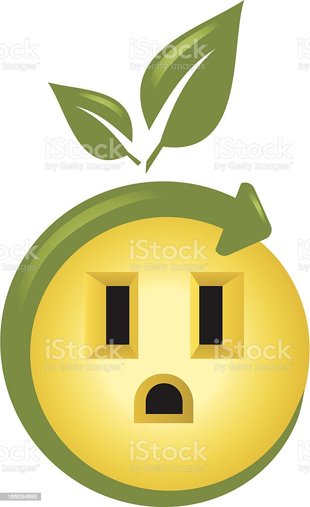 Eco Power Socket royalty-free stock vector art