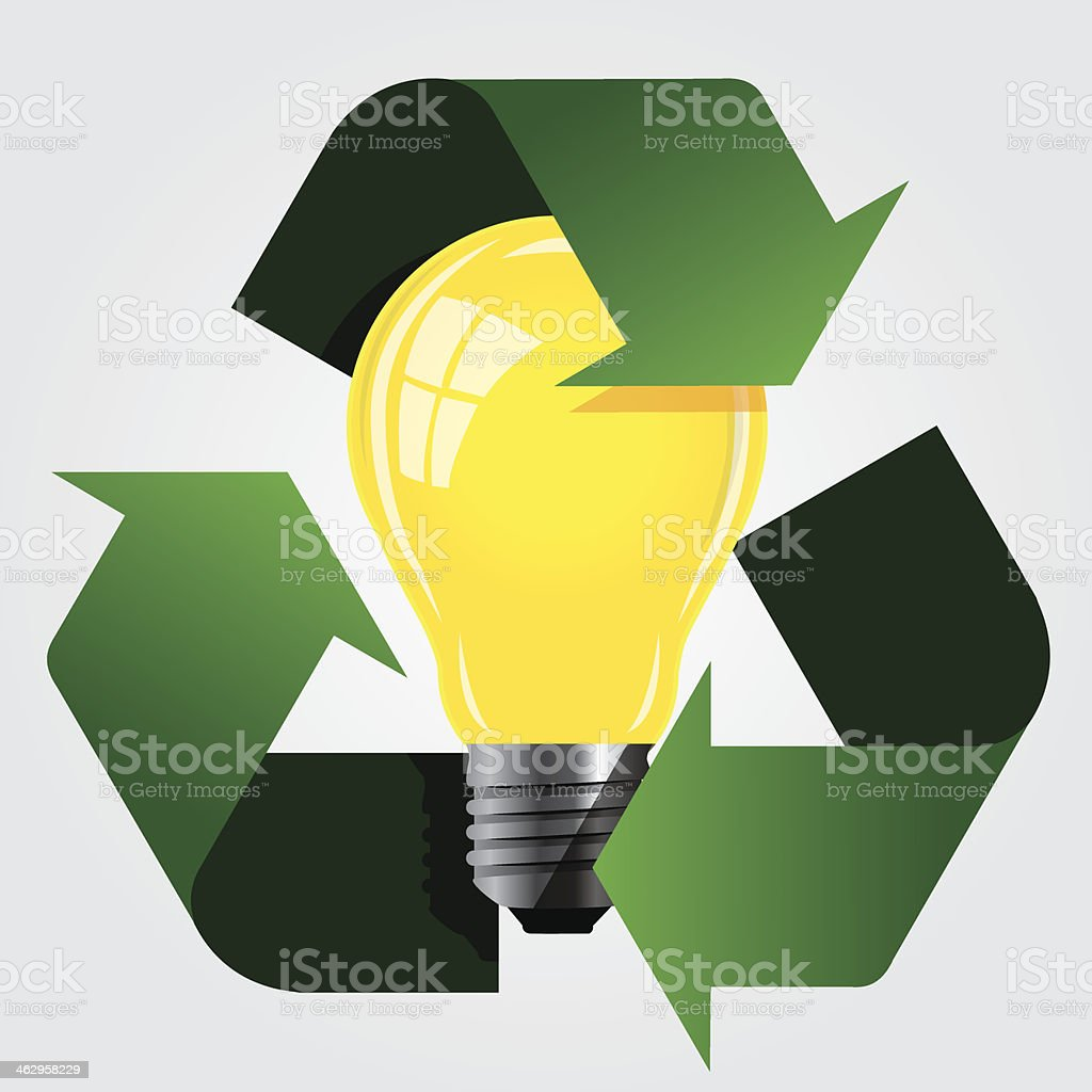 Eco Recycle Energy Sign. royalty-free stock vector art