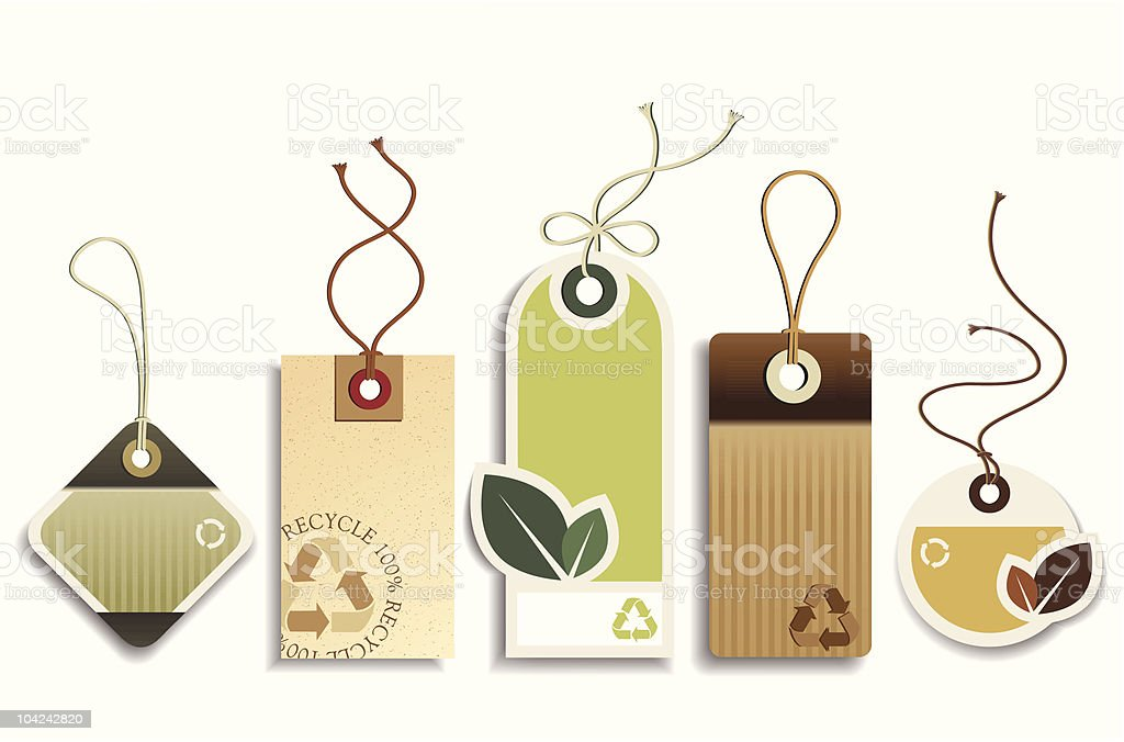 Eco Recycle Tags royalty-free stock vector art