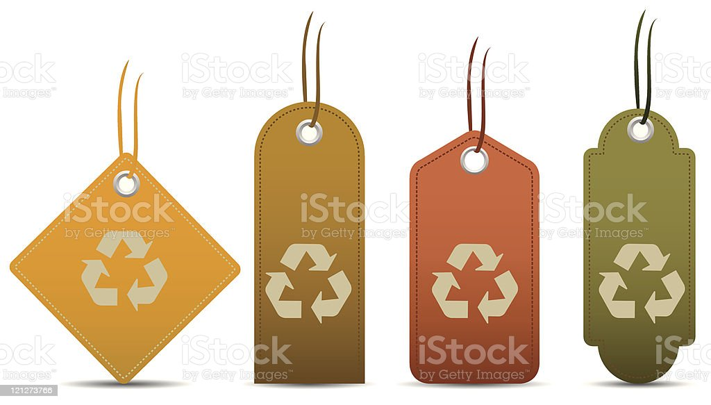 Eco recycling tags royalty-free stock vector art