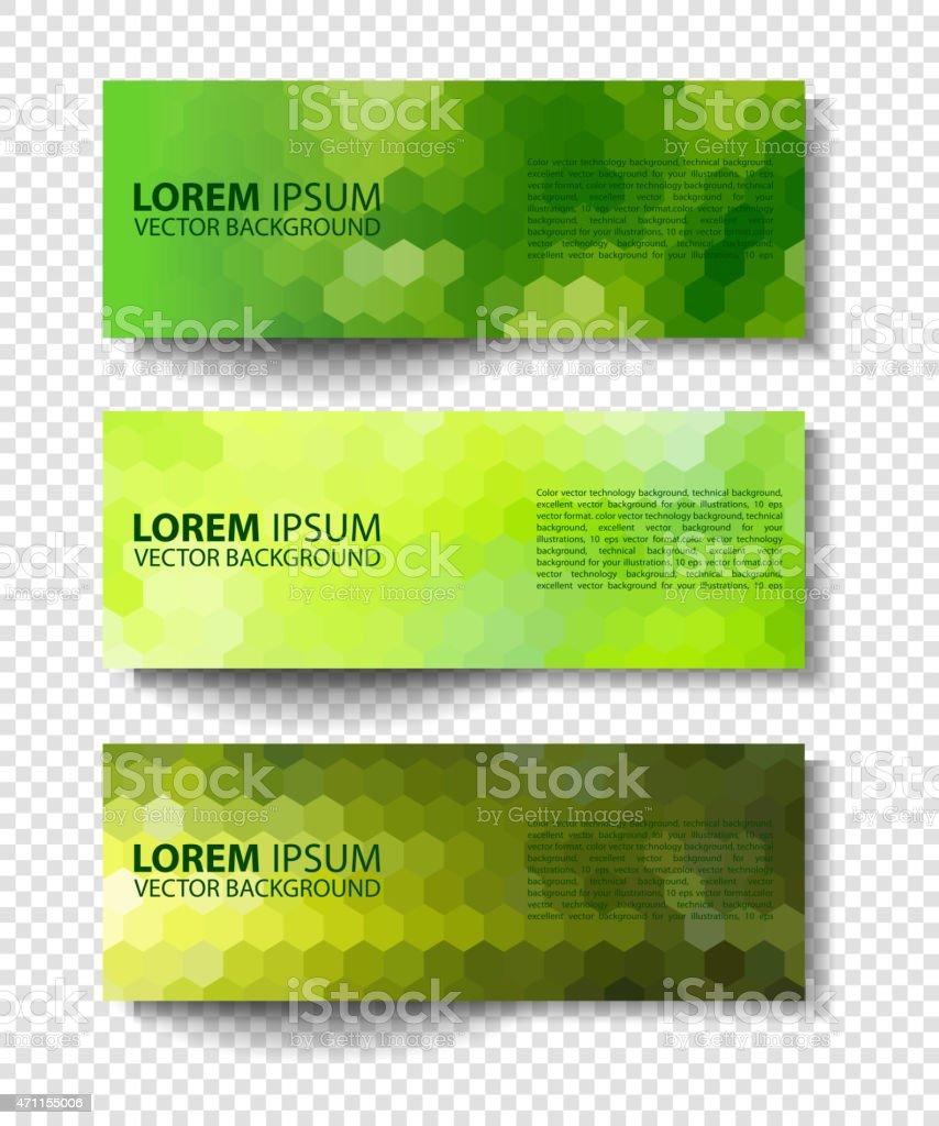 eco set of green environmental vector banners vector art illustration