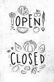 Eco signboard open close