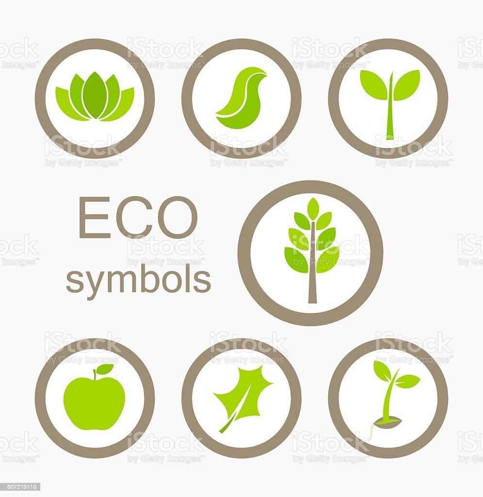 Eco symbols vector vector art illustration