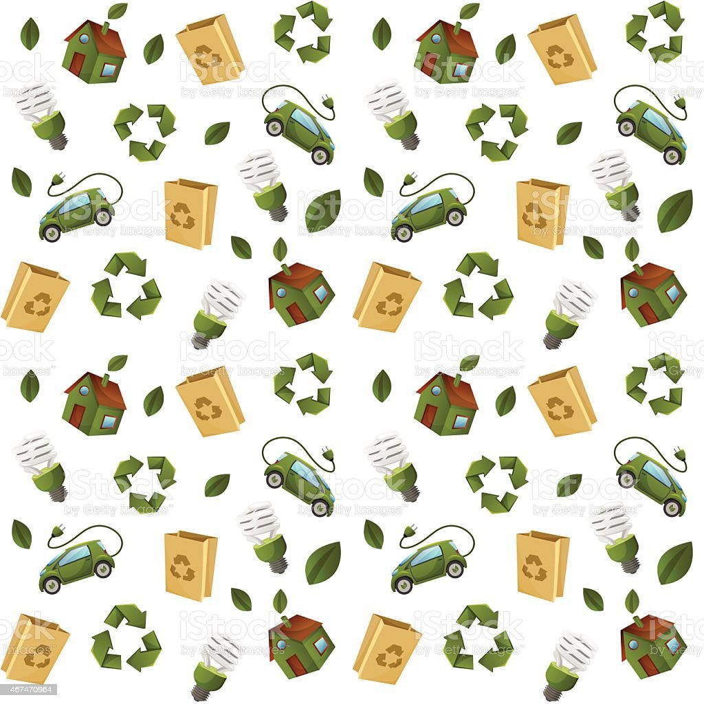 Eco technology pattern seamless vector art illustration