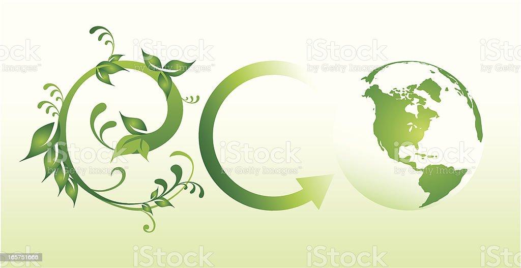 Eco World royalty-free stock vector art