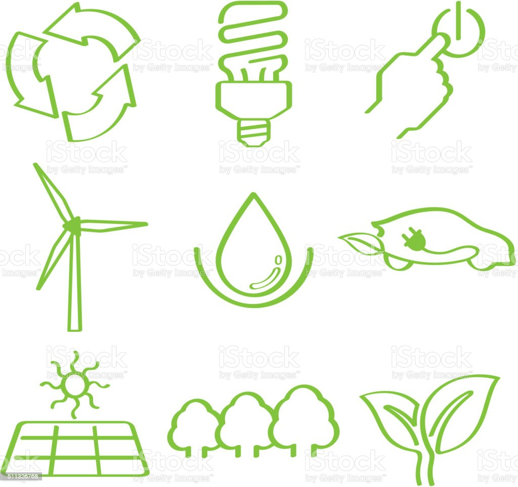 Ecoawareness doddle vector art illustration