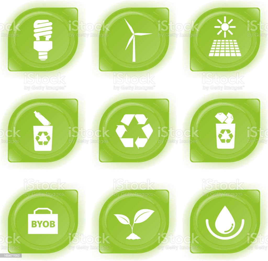 ECO-Awareness Icon royalty-free stock vector art