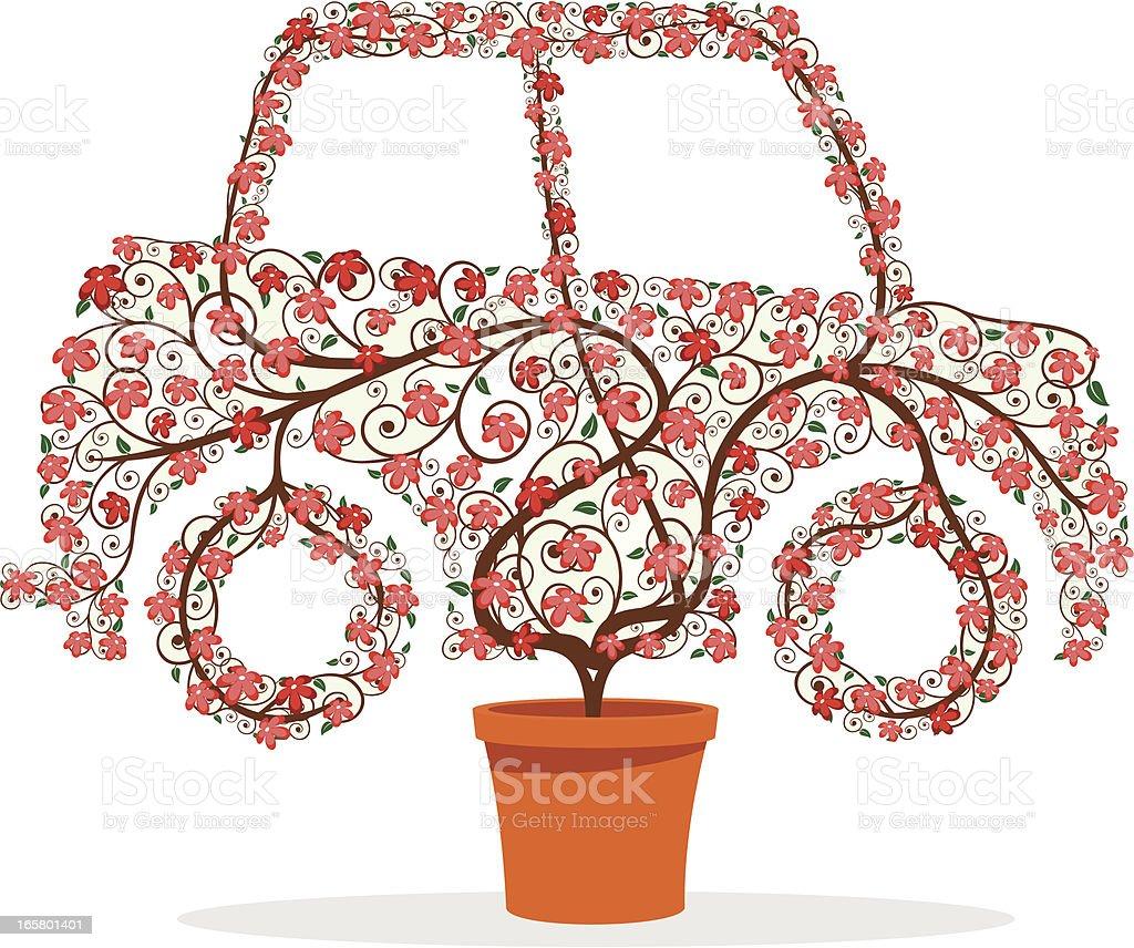 Eco-Car vector art illustration