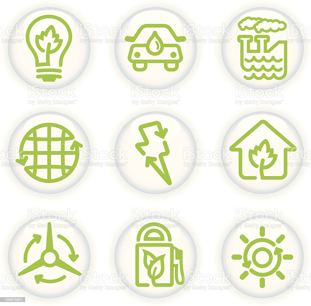 Eco-friendly Buttons vector art illustration